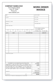 Auto-glass Work Order/Invoice