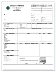 Landscaping Work Order/Invoice Version 1