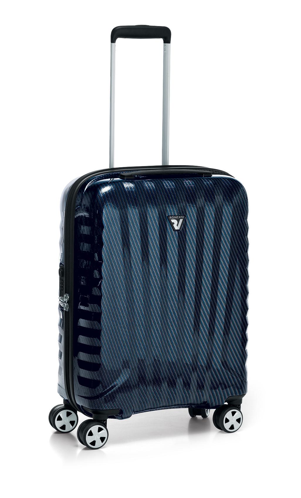 Roncato Italian Designer Premium Carbon 4 Wheel Cabin Bag - Blue