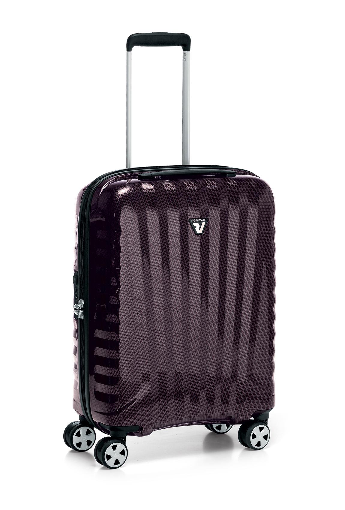 Roncato Italian Designer Premium Carbon 4 Wheel Cabin Bag - Bordeaux