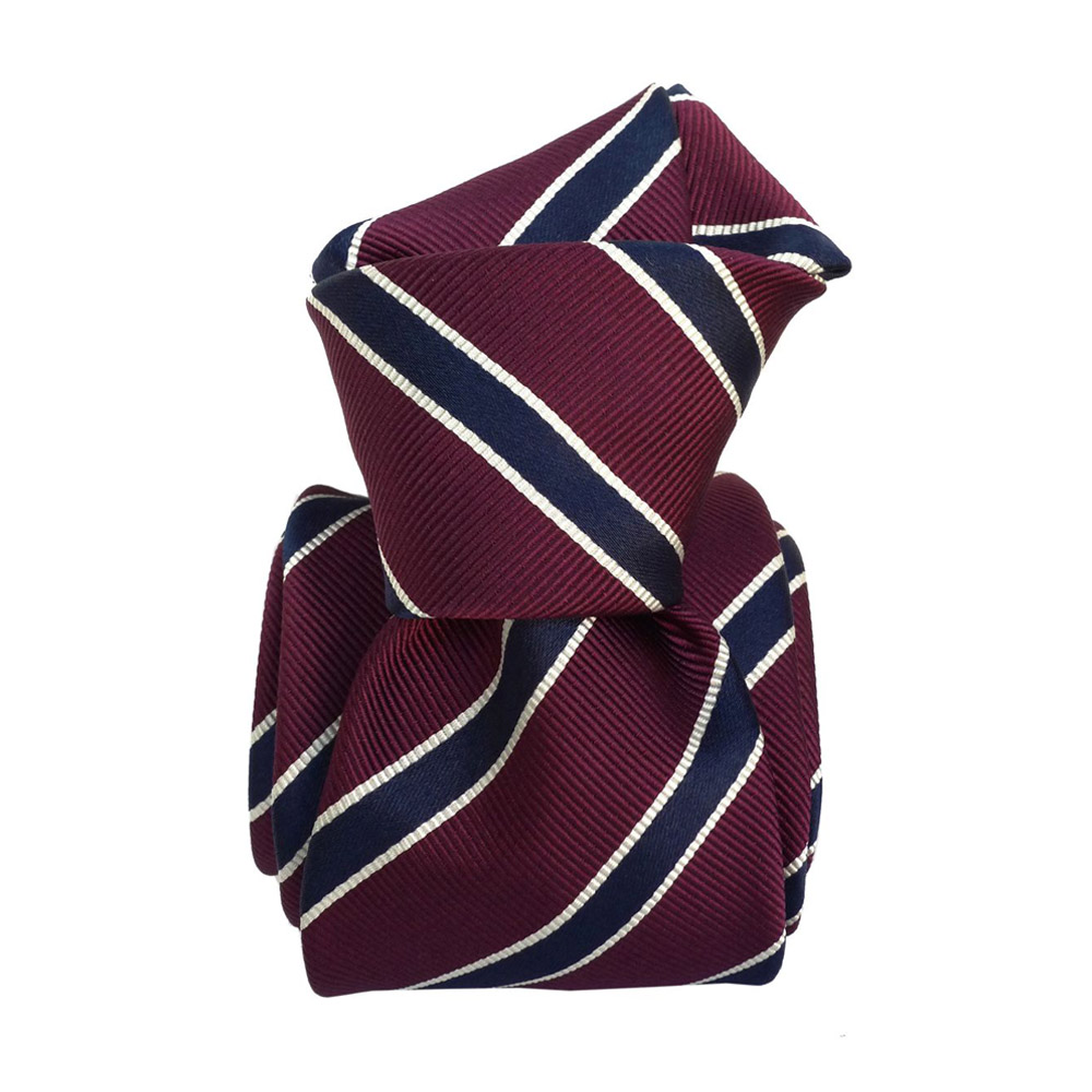 Silk tie striped