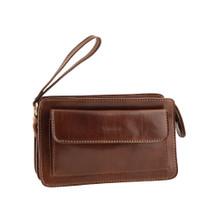 Chiarugi Italian Designer Leather Zip Man Bag - Brown ef630b0ca6778