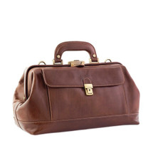 Chiarugi Italian Leather Front Pocket Doctor's Bag - Brown