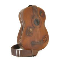 Pratesi Guitar Italian Leather Backpack - Brown