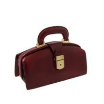 Pratesi Brunelleschi Italian Radica Leather Handbag - Chianti Brown