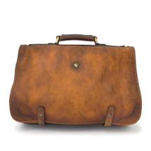 Pratesi Ammannati Large Aged Italian Leather Messenger - Brown