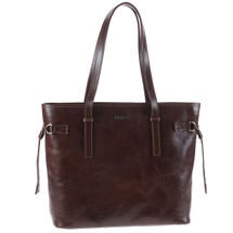 Chiarugi Italian Leather Large Tote Shopper Bag - Brown