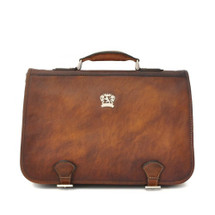 Pratesi Secchieta Italian Leather Business Bag - Brown
