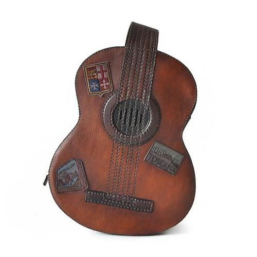 Pratesi Guitar Italian Leather Small Backpack - Brown