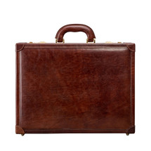 MSB Carrara Italian Leather Slim Attache Case - Tan