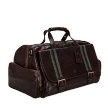 MSB Greve Italian Leather Holdall Cabin Bag - Brown