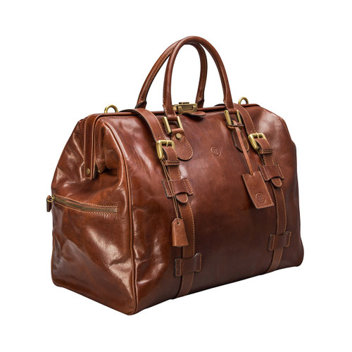 MSB Sorano Italian Leather Gladstone Holdall - Tan