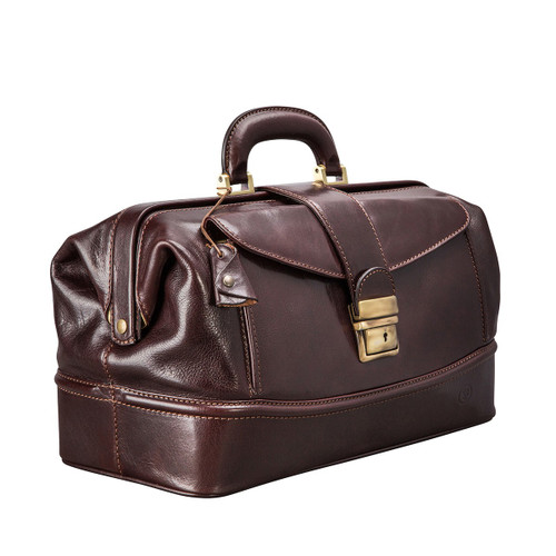 MSB Lucignano Italian Leather Front Pocket Doctor's Bag - Brown