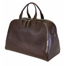 Terrida Italian Leather Large Travel Bag  - Dark Brown