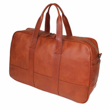 Terrida Viaggio Italian Leather Slim Travel Holdall - Brown