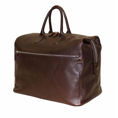 Terrida Luxury Italian Leather Holdall - Dark Brown