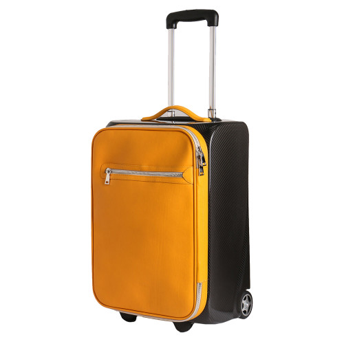 Terrida Carbon Leather Trolley Bag - Yellow