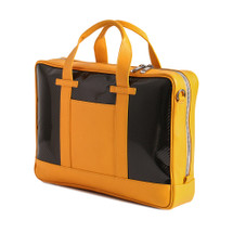 Terrida Italian Carbon Leather Laptop Business Bag - Yellow