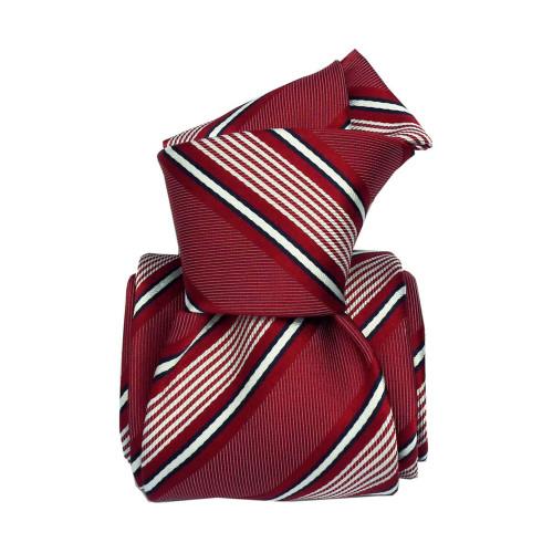 Segni & Disegni Italian handmade Classic Stripe Silk Tie - Red