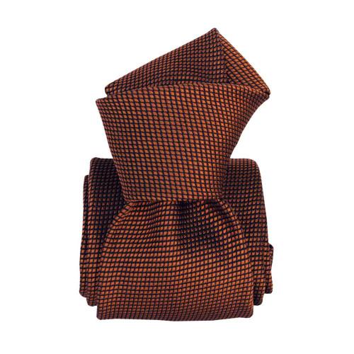 Segni & Disegni Italian Handmade Silk Tie - Copper Navy