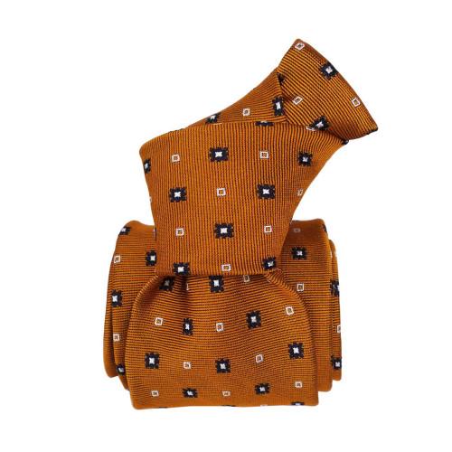Segni & Disegni Italian Handmade Pattern Silk Tie - Gold