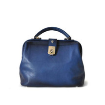 Pratesi Aged Leather Medico Handbag - Blue