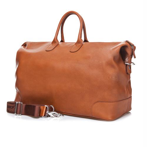 Terrida Marco Luxury Italian Leather Holdall - Tan