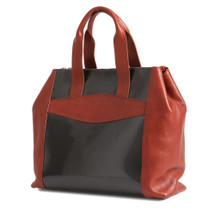 Terrida Italian Carbon Leather Tote Handbag - Tan