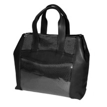 Terrida Italian Carbon Leather Tote Handbag - Black