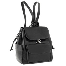 Chiarugi Italian Leather Backpack - Black