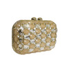Anna Cecere Italian Designed Gioello Jewel Clutch Evening Bag - Cream 2
