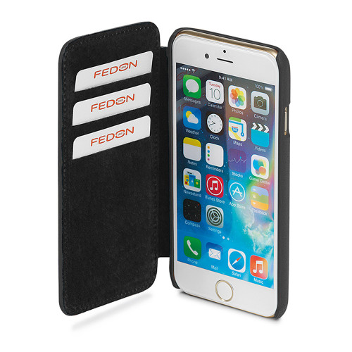 Giorgio Fedon 1919 Smooth Leather iPhone 6 Plus Flap Case