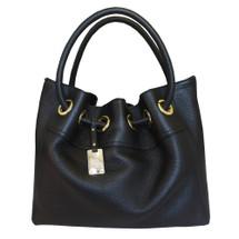 Carbotti Designer Italian Leather Hobo Handbag - Black