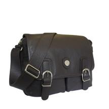 Bonfanti Doppio Designer Italian Leather Satchel Bag - Brown