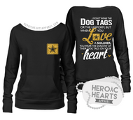 Shadow of Their Dog Tags Army Top