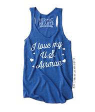I Love My U.S. Airman  Hearts Shirt