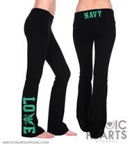 Navy LOVE Yoga Pants