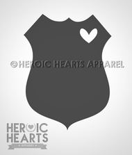LEO Shield with Heart Decal
