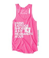 Guns Tattoos Shoes & My Husband's ACUs Top