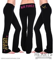 Air Force Leopard & Glitter Yoga Pants