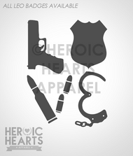 LEO Block Love Weapons Decal