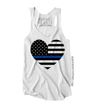 American Heart Flag Thin Blue Line Top