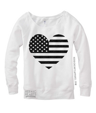 American Flag Heart Shirt