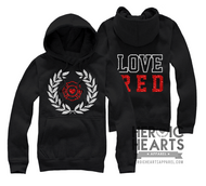 LOVE RED Crest Emblem Top