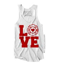 Firefighter Love Square Shirt