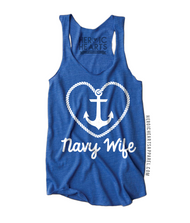 Heart Rope Anchor Navy Wife Top
