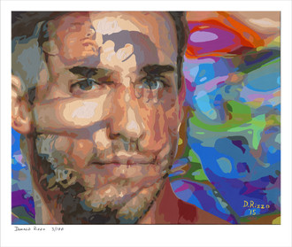 "Shop for Gay Male Art ""Echos of yesterday"" a limited edition print by San Francisco artist Donald Rizzo. Donald Rizzo paints optical illusions in a style call Ambiguous Delusions."