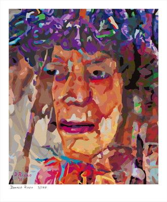 Shop for If I Only had a Brain a mental health portrait by San Francisco artist Donald Rizzo. Abstract verism in kaleidoscopic visions of vibrant colors.