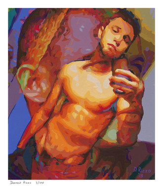 Shop for Gay Male Art Looking a Limited Edition Print by San Francisco artist Donald Rizzo. Donald Rizzo paints optical illusions in a style call Ambiguous Delusions.