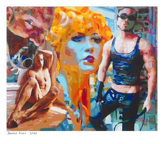 Shop for psychotic echos a limited edition print by San Francisco artist Donald Rizzo. Donald Rizzo paints kaleidoscopic visions of vibrant colors.